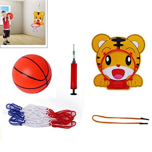 Yajun Einstellbare Basketballkorb Kinder Spielzeug Frosch Tiger Hängende Mini Kids Spiel Lustige Indoor Outdoor Sport Interaktives Spiel Set,Yellow