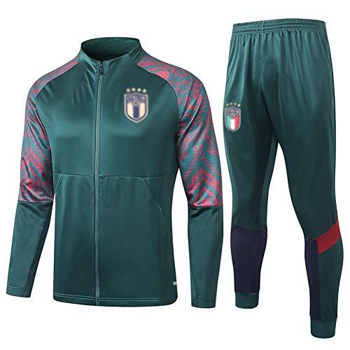 HIAO Manica Lunga Sportswear Vestito degli Uomini del Vestito da Calcio for Allenamento Maglia Verde - A1054 502 (Color : Green, Size : M)