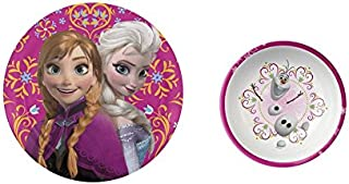 "Disney Frozen 8"" Elsa and Anna Plate and 5.5"" Olaf Bowl"