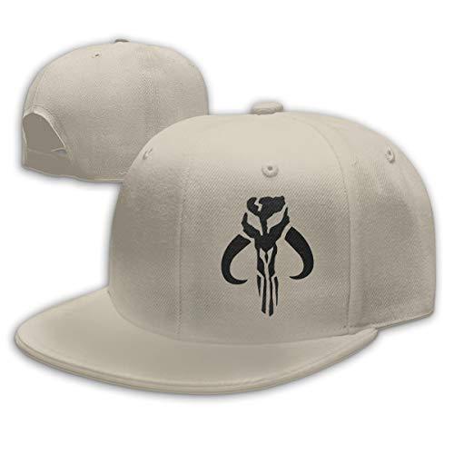 Mandalorian-Logo, Unisex-Kappe, modisch, flach, verstellbar, für jede Jahreszeit geeignet Gr. Einheitsgröße, natur