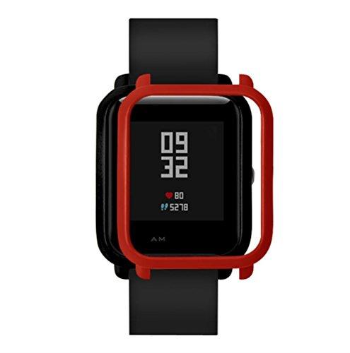 Saisiyiky Protector para bip Youth, Marco de Colores PC Funda de protección para bip smartwatch