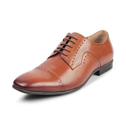 tresmode Men's Tan Formal Shoes