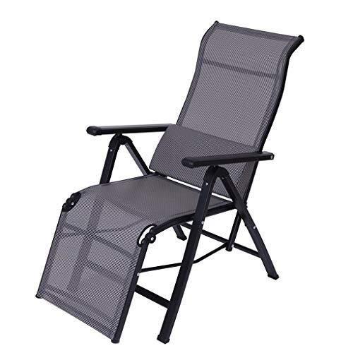 FDD Klappliege Schwarz und Grau |Aluminiumrahmen Sommergartenmöbel Liegestuhl Liege Pulverbeschichtung