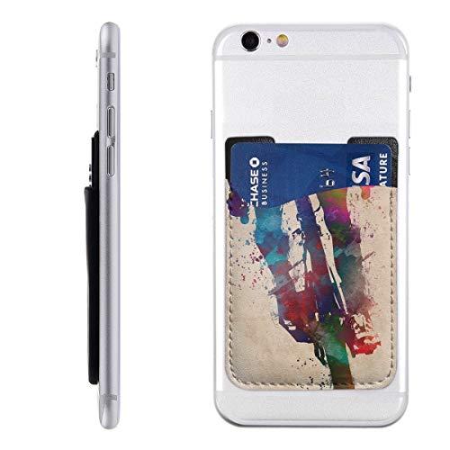 Fiets Fantasie Telefoon Kaarthouder Stick Op Mobiele Telefoon Portemonnee Voor Credit Card, visitekaartje ID En Sleutels, Telefoonvak Voor Alle Telefoons