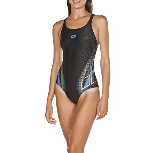 ARENA Damen Badeanzug Briza, Black-pix Blue, 44