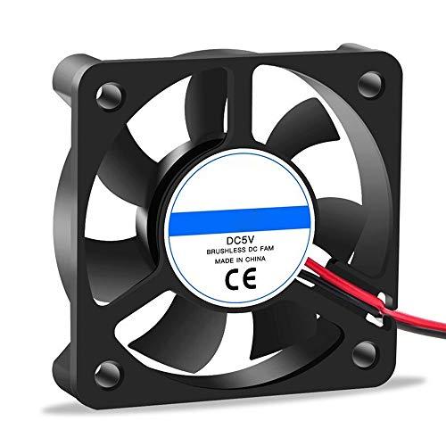 WANGZHI Cooling Fan 12V 2pin 3D Printers Parts Brushless Cool Fans Cooler Radiator Part 50 * 50 * 10 Mm Quiet Accessory 5CM DC 50m 4Pcs (Color : 5010 5v, Size : Free)