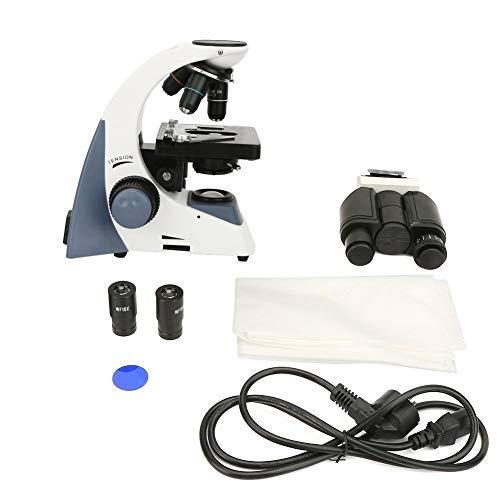 Microscopio biológico 40-1000X gran campo de visión ocular biomicroscopio microscopio biológico 100-240 V para laboratorios(European regulations)