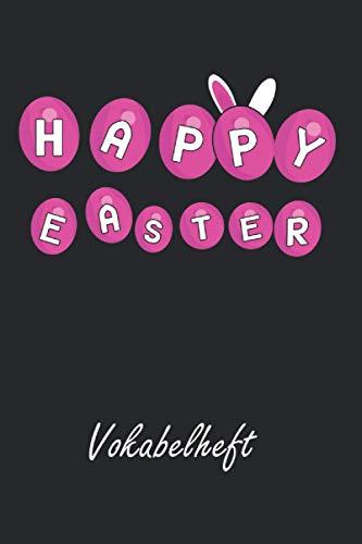 Vokabelheft: A5, Schulheft Heft, 50 Seiten, Liniert 2 Spalten mit Teilungslinie, für Schule, Cover glänzend, ca. Din A5 (6x9) | Geschenk zu Ostern Ostergeschenk für Kinder Osterhase