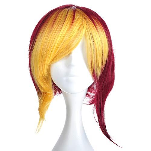 CoolChange YuGiOh Perücke von Yugi MUTO, Blond / Violett