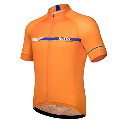 ROTTO Maillot Ciclismo Hombre Camiseta Ciclismo Manga Corta Maillot MTB Serie de línea Simple