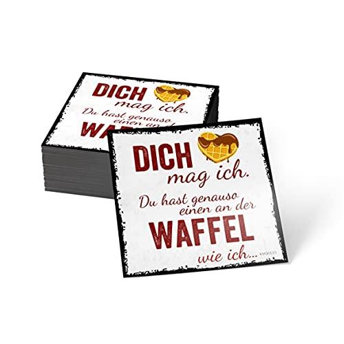 how about tee? Magnet-Sticker: Dich mag ich. Du hast genauso - Kühlschrankmagnet mit Spruch