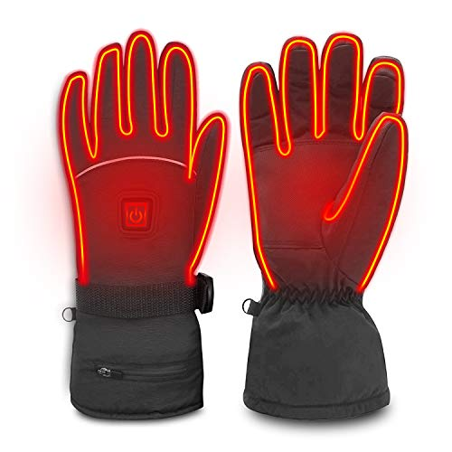 Heated Gloves, Electric Gloves for Men Women 3 Heating Temperature Adjustable TouchScreen Waterproof Warm Gloves for All Kinds of Outdoor Activities