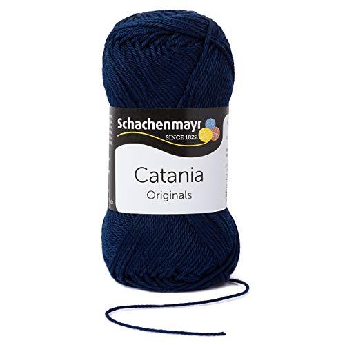 Schachenmayr Catania 9801210-00124 marine Handstrickgarn, Häkelgarn, Baumwolle