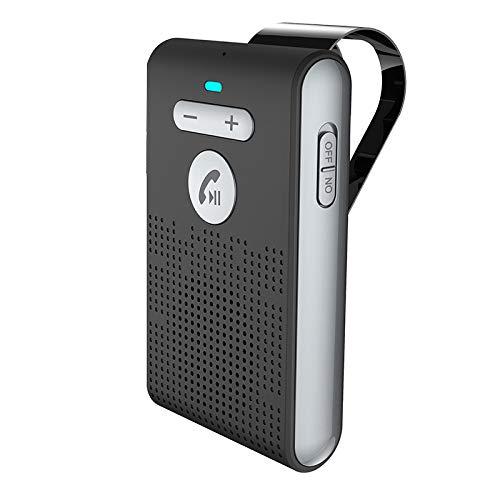 Subuss Sistema Bluetooth inalámbrico portátil para Coche, SP08 Parasol Manos Libres Bluetooth 5.0 Altavoz A2DP para teléfonos iOS y Android Tablets