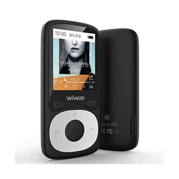 Bluetooth MP3 Player with FM Radio, 16GB Portable HiFi Lossless SoundWiwoo MP3 Player with Bluetooth, 16GB Portable HiFi Lossless Sound MP3 Player with FM Radio, Voice Recorder 3