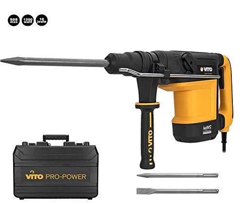 VITO Professional Bohrhammer 10 Joule 1200 Watt SDS-Max 2950 cps/min AVS Anti-Vibrations-System