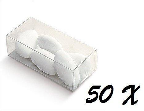 Chance SAS IRPot - 50 X SCATOLA PORTACONFETTI IN PLASTICA TRASPARENTE RETTANGOLARE 03750