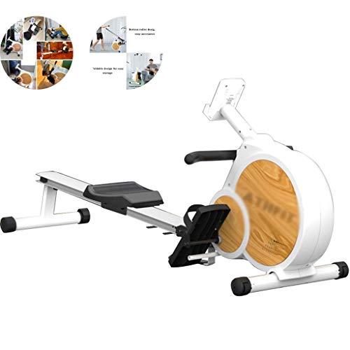 Rudergerät Intelligentes, magnetisch gesteuertes leises Rudergerät für den Haushalt, faltbares Fitnessgerät zum Abnehmen im Innenbereich (Farbe: Weiß, Größe: 187 * 52 * 42 cm)