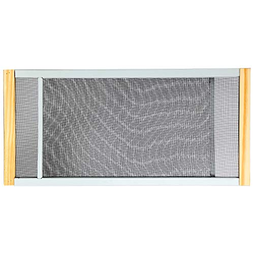 """Adjustable Window Screen Built to Help Air Circulate Through Your Home, Adjusts Its Width Within a Range of 22"""" - 37"""" - 10 in high, Installs in Seconds No Tools Needed"""