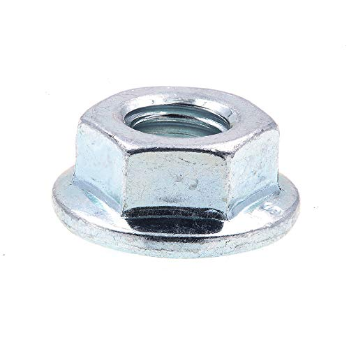 Prime-Line 9094883 Flange Nuts, Class 8 Metric-Smooth Face, M6-1.0, Zinc Plated Steel, 10-Pack