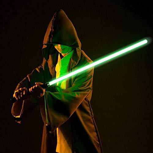 GFKD Sabadoras de luz para Adultos, Sabre Ligero Metal Force Force FX Sable con 6 Fuentes de Sonido LED Sabre de Luz Recargables para Adultos y Niños