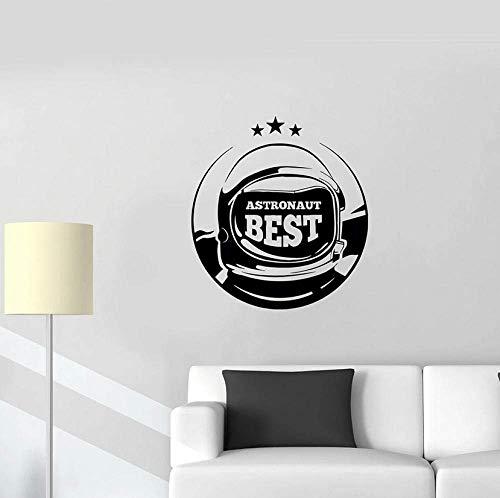 Muursticker Beste Astronaut Logo Muursticker Ruimte Pak Ruimteschip Galaxy Ontdek Vinyl Raam Sticker Slaapkamer Woonkamer Huisdecoratie Art 57x62cm
