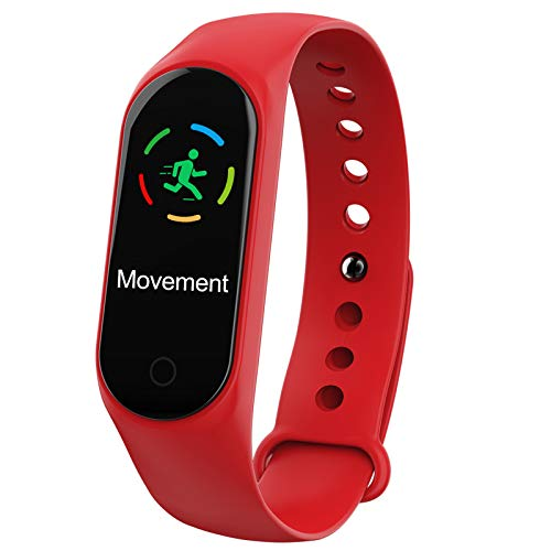 Smart Watch High-End Fitness Trackers, Activity Trackers Health Exercise Watch with Heart Rate And Sleep Monitor, Smart Band Calorie Counter, Step Counter, Pedometer Walking for Men Women,Red