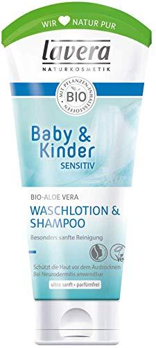 Lavera Baby & Kinder sensitiv Waschlotion & Shampoo Bio-Aloe Vera 3er Vorteilspack (3 x 200ml)