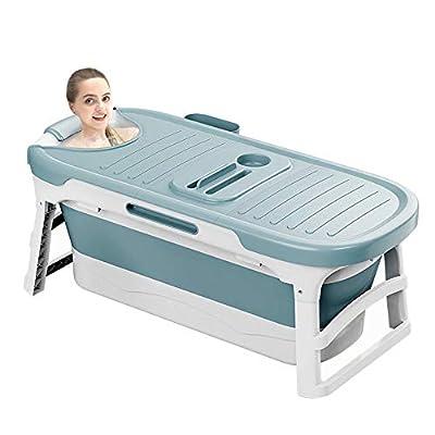 WEIERJIA 53inch Portable Bathtub for Adults and Baby,Uniex Foldable Bathtub Soaking Tub Home SPA Bathtub