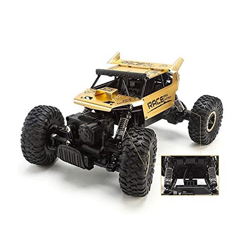 YLJYJ Coche RC de aleación Todoterreno de Escalada de Alta Velocidad 1/18, camión RC 4WD Todoterreno a la Deriva Bigfoot Monster, Cargador USB de Doble Motor (Coche RC)