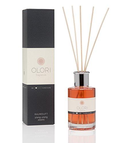 OLORI Reed Raumduft - Ylang Ylang - 200 ml - verschiedene Sorten - natürlich, langanhaltend, erfrischend, süss, blumig