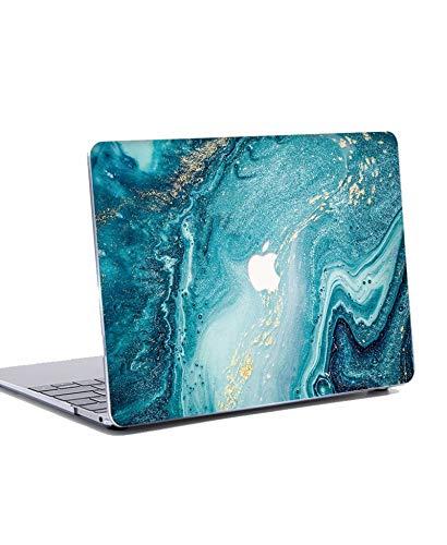 """N/S Funda Dura para MacBook Pro 13 Pulgadas 2019 2018 2017 2016 - Plástico Dura Case Carcasa&Tapa del Teclado para MacBook Pro 13.3"""" con/sin Touch Bar Modelo: A1706 A1708 A1989 A2159 - Ola Azul"""