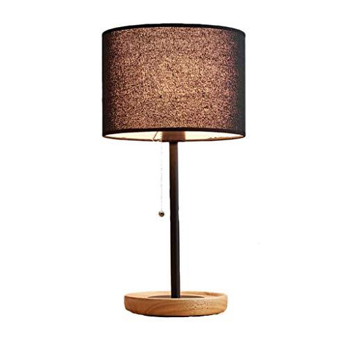 JJZXD Lámpara Moderna lámpara de Mesa de Noche Moderna y Elegante con el Interruptor Capota de Tela, lámpara de Noche Minimalista (Color : A)