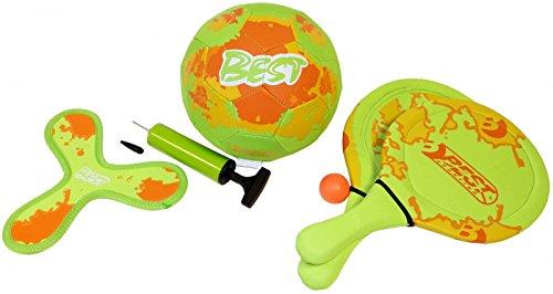 Best Sporting néoprène Beach Game Set, divers Couleurs, vert/orange