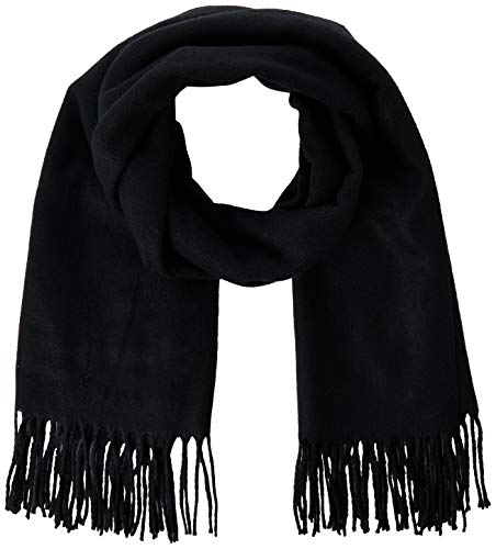 VERO MODA Damen VMSOLID Long Scarf Color Schal, Black, ONE Size