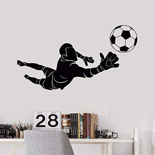 Preisvergleich Produktbild XIAOJIE0104 Sport Wandaufkleber Abnehmbare Fußball Torwart Spieler Wandtattoo Kinder Jungen Room Decor Vinyl Sport Kunst Wandaufkleber 106 * 57 cm