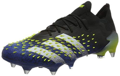 adidas Herren Predator Freak .1 L SG Soccer Shoe, Core Black/Cloud White/Solar Yellow, 41 1/3 EU