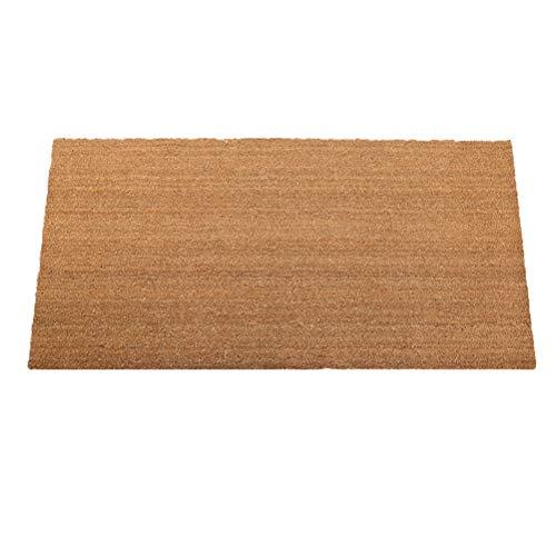XYH Coco Natural Palma Estera del Piso del Felpudo de Entrada Portal Puerta del cojín del pie Inicio Sala de alfombras Antideslizantes Impermeables Mats (tamaño : 60X90CM)