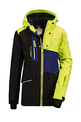 Killtec Jungen Flumet BYS Ski Jckt A Funktionsjacke Mit Kapuze Und Schneefang, schwarz, 152