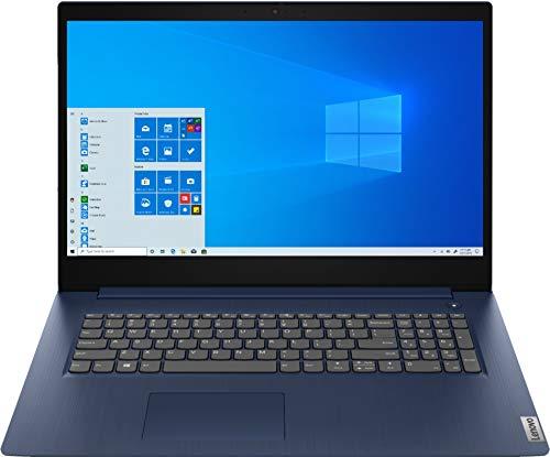 "Lenovo Ideapad 3 17 17.3"" HD+ (1600 x 900) Laptop, Intel 10th Gen Core i5-1035G1, 1.0 GHz, 8GB RAM, 1TB HDD, Windows 10 Home, Abyss Blue"