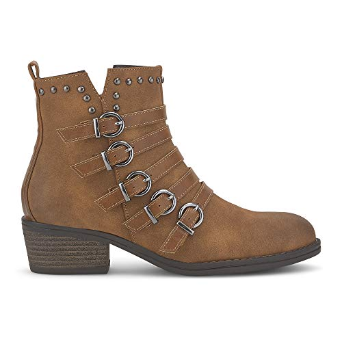 Cox Damen Trend-Stiefelette Braun Synthetik 39