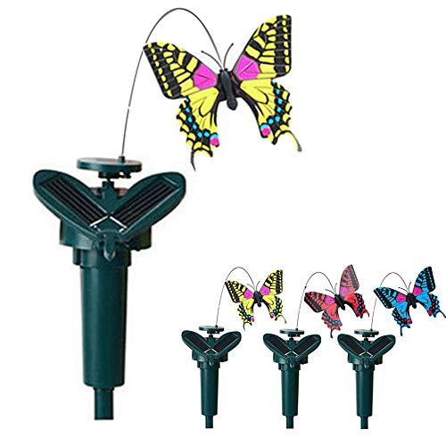 Steellwingsf - Mariposas voladoras de energía solar para decoración de jardín, plástico, Random, tamaño único