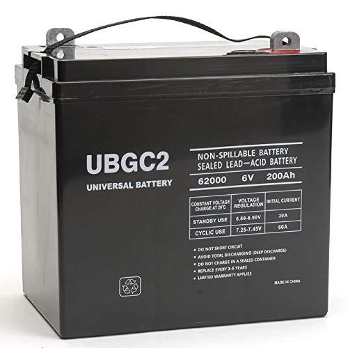 UBGC2 Sealed AGM Deep Cycle 6V 200AH Battery Golf Cart