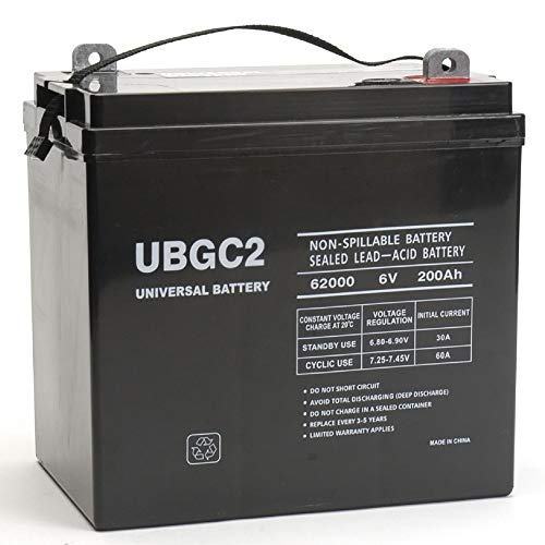 UBGC2 Sealed AGM Deep Cycle 6V 200AH Battery Golf Cart RV Boat Camper Solar