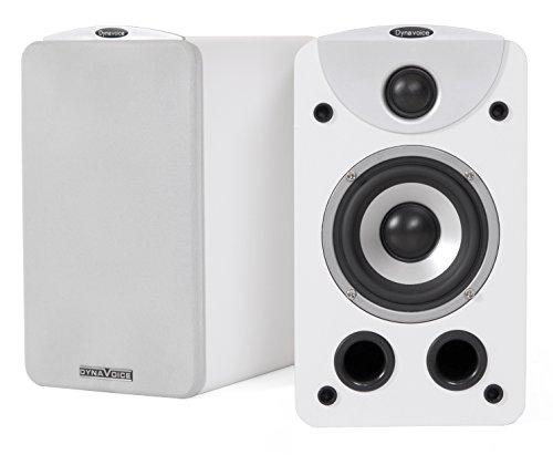 Dynavoice Magic S-4 EX v3 White - Coppia Diffusori Acustici da Libreria 2 Vie Bass Reflex per Hi-Fi e Home Cinema. Cabinet in legno MDF con finitura venato legno.
