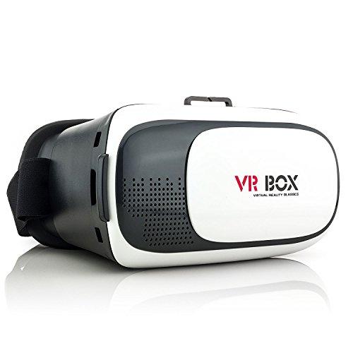 Saxonia Occhiali 3D VR Virtual Reality | La realtà virtuale Glasses Headset Head-mounted per Smartphones, iPhone 7 6 6S (+ Plus), Samsung S7 S6 Edge S5 Neo, Sony Xperia, Huawei e più