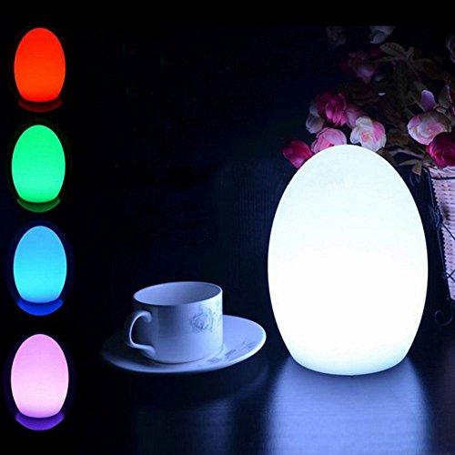 EONANT Mood Ball Lights, Globe Pool Floating Light Waterproof 16 Mode Modification de la Couleur avec Télécommande Enfants LED Night Light Éclairage Extérieur Intérieur (10x15cm-Egg)