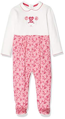 Chicco Baby-Mädchen Tutina Con Apertura Entrogamba Strampler, Rot (Bianco E Rosso 037), 50 (Herstellergröße: 056)