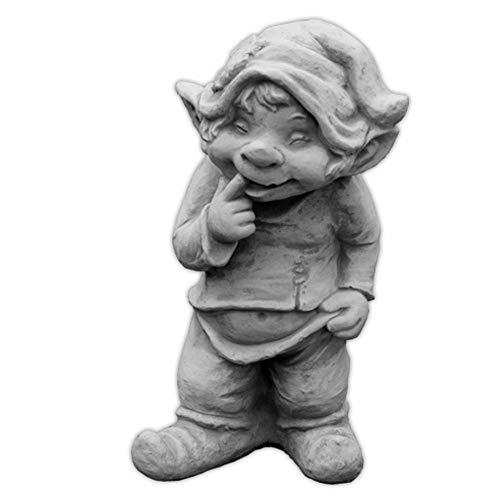 gartendekoparadies.de Grand GNOME Massif GNOME « Que Puis-Je Faire Ici » Troll GNOME Lutin en Pierre reconstituée