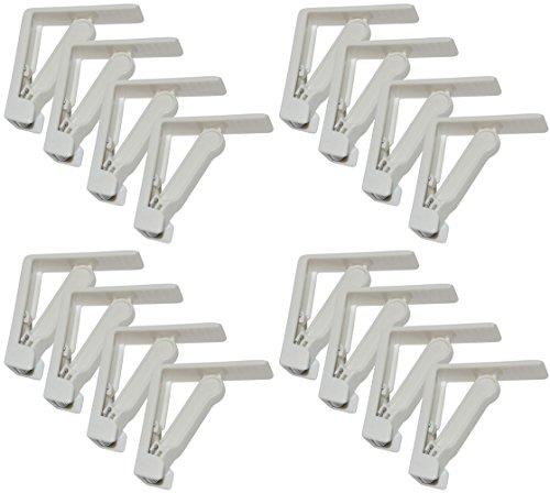 all-around24 12 Stück Tischtuchklammer Weiß mit Feder, Tischdeckenklammern, Tischtuschhalter,Tisch Beschwerer,Tischdecke Gartentisch Picknickbedarf Clips Klemmen (12)